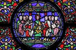 Scripture has been Fulfilled in your Hearing. Stained glass window from Canterbury Cathedral.