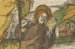 Fragment of Hans SFchäufelein, Christ as Good Shepherd from Das Plenarium, 1517 (Gift of Henry G. Friedman, 1961, The Metropolitan Museum of Art)