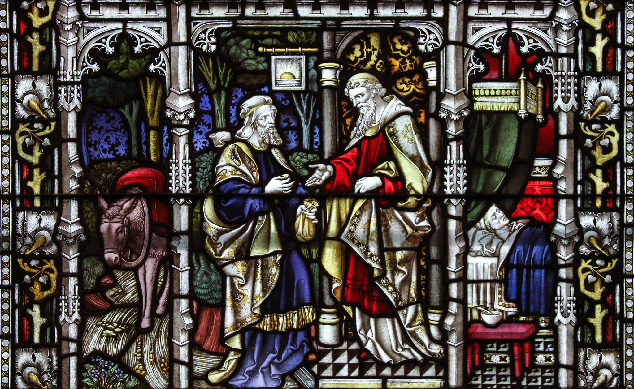 The Good Samaritan - Stained glass from Old St Paul's church in Baltimore